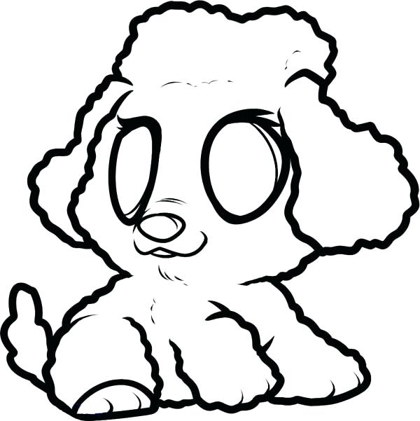600x601 Poodle Coloring Page Drawn Printable Image Of Full Size Poodle