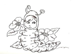300x216 Poodle Skirt Pope And Caterpillar Girl Free Digital Stamps By