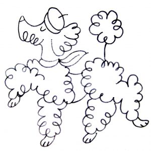300x300 Poodle Skirt Stencil Stockings Poodle Adult