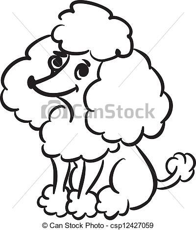 400x470 Poodle Clipart Drawn