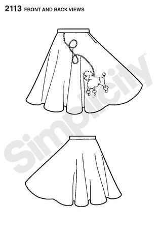 318x456 Simplicity 2113 Child's Poodle Skirt