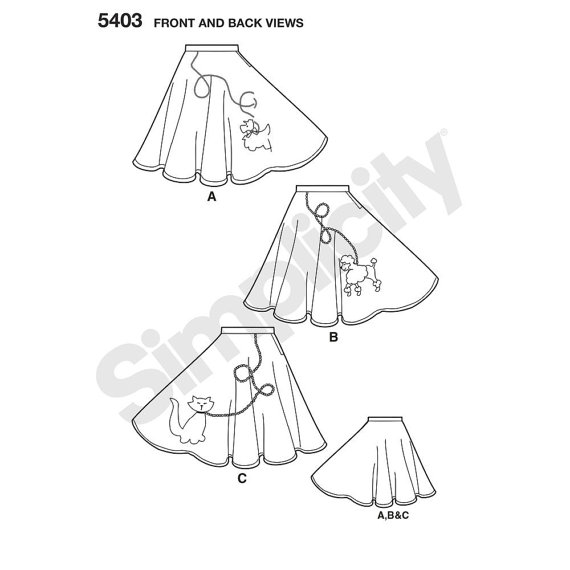 570x570 Easy 50s Poodle Skirt