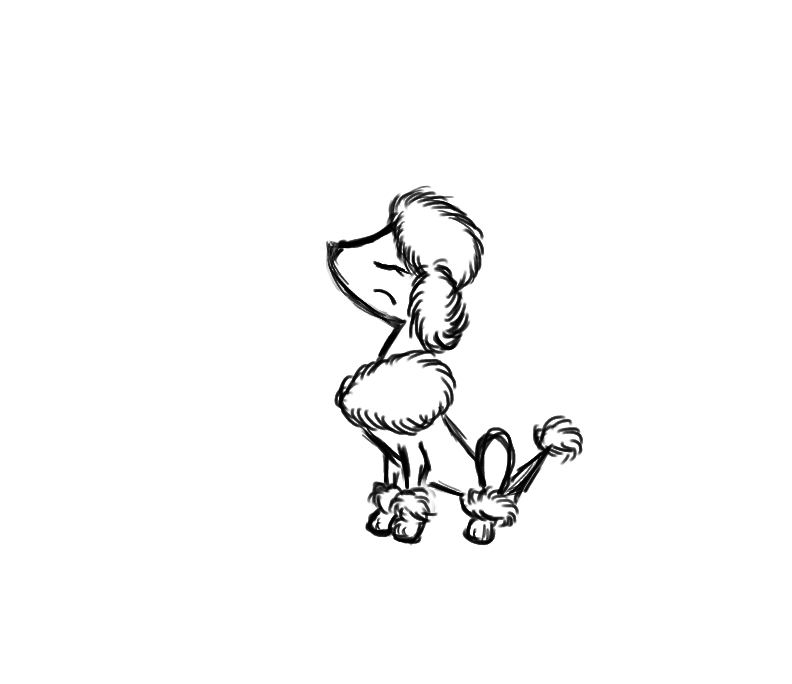 792x684 Image Result For Poodle Line Drawing Poodle Is My Co Pilot