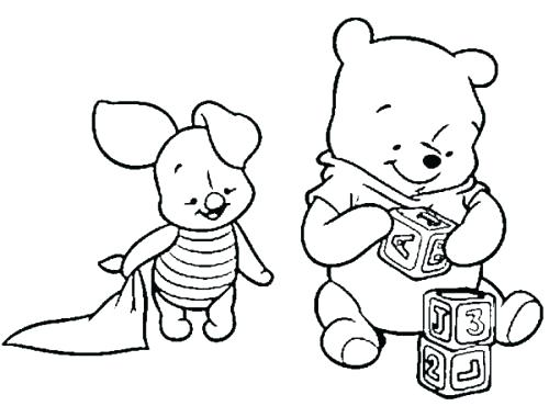 500x370 Pooh Bear Coloring Page Baby Pooh Bear Coloring Pages Winnie