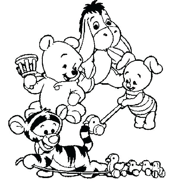 582x627 Pooh Bear Coloring Pages The Winnie The Pooh Thanksgiving Coloring