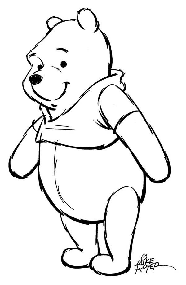 600x920 Mike Royer Winnie The Pooh Drawing