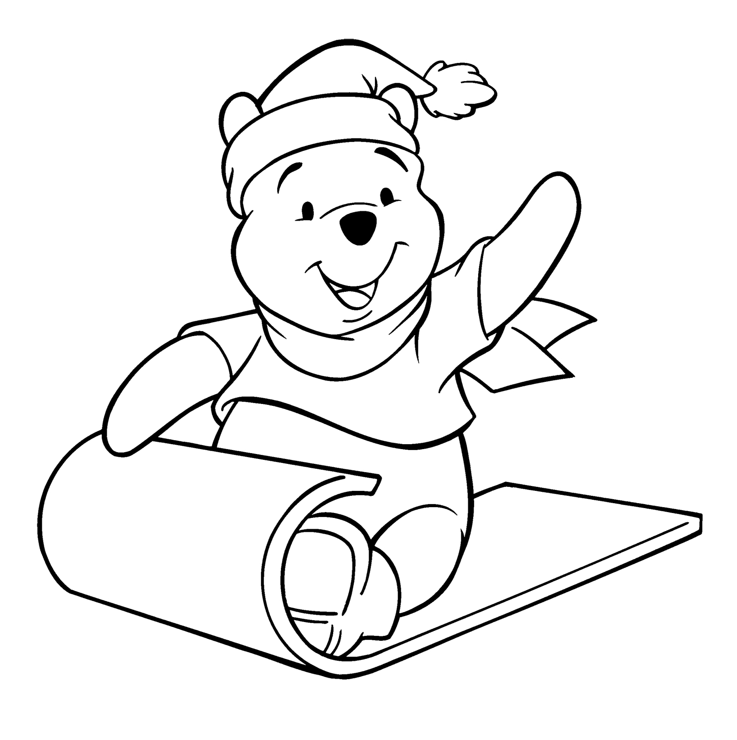 1500x1506 Winnie The Pooh Christmas Coloring Pages Preschool For Good Draw