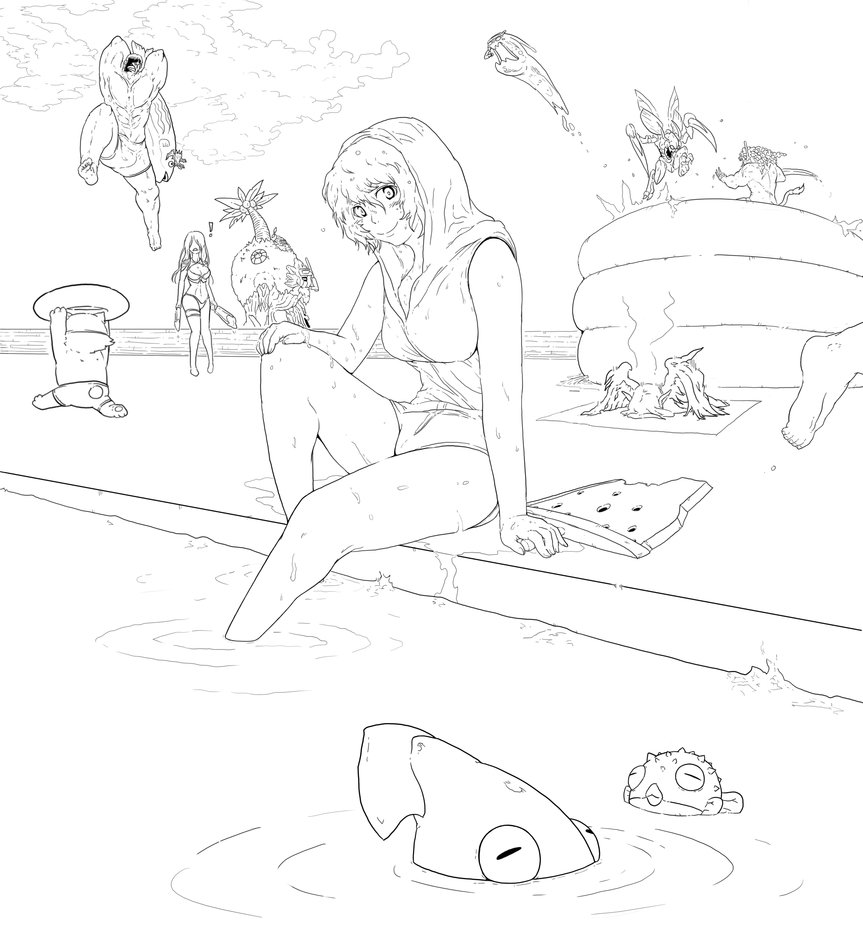 863x925 Lol] Pool Party Riven, And More By Rifflehunter