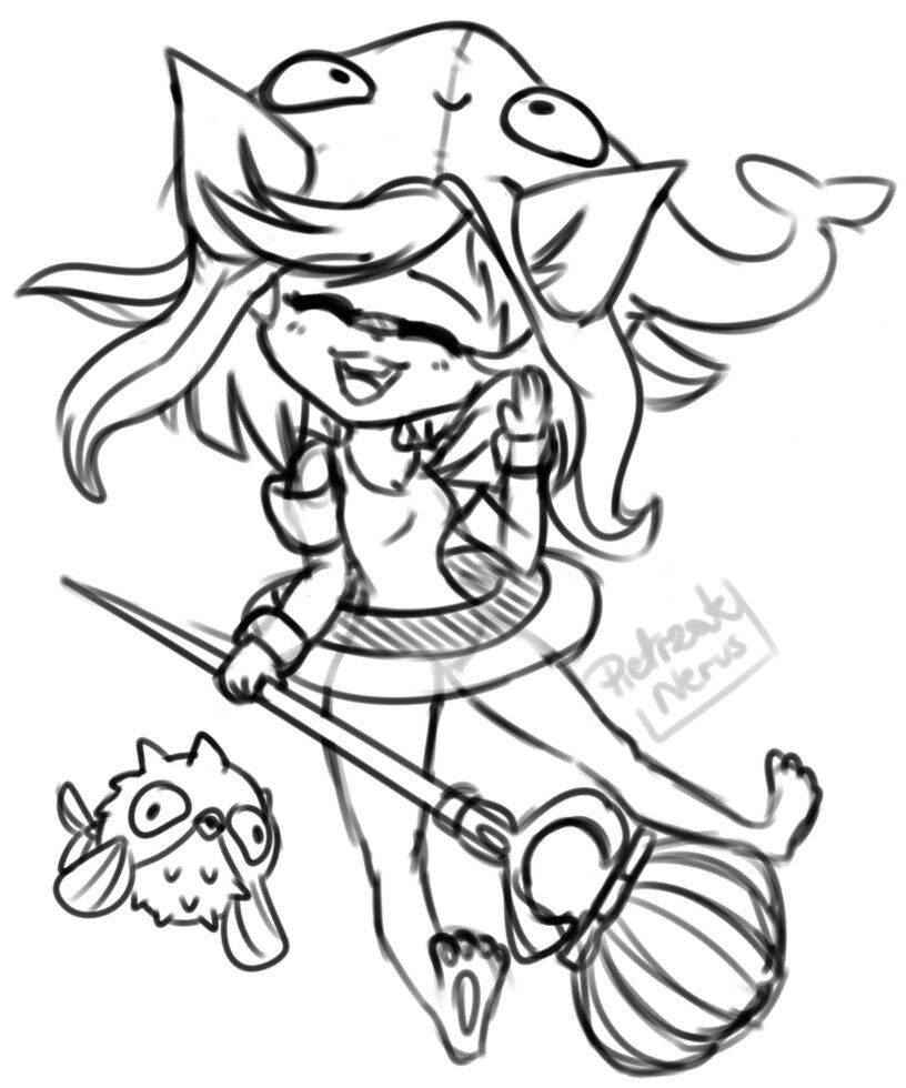 816x980 Pool Party Lulu Sketch + Thanks League Of Legends