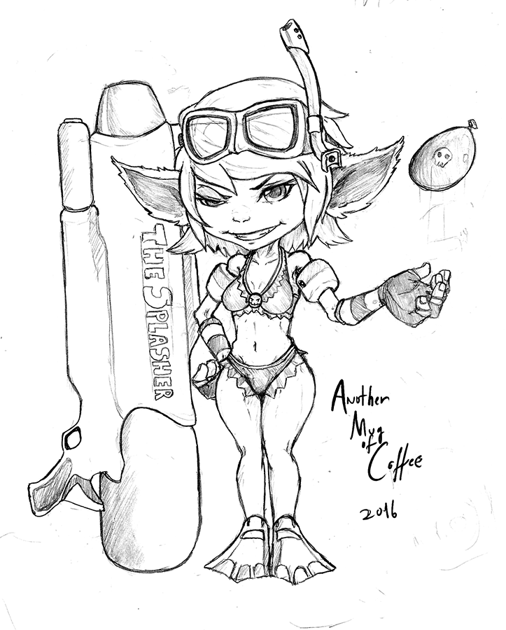 723x900 Pool Party Tristana By Armoc