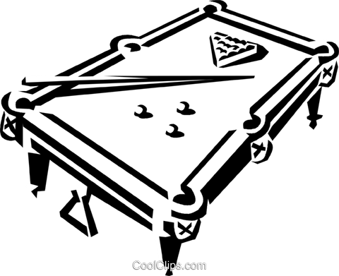 480x391 Pool Table And Balls Royalty Free Vector Clip Art Illustration