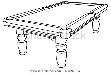 Pool Table Drawing At Getdrawings Com Free For Personal