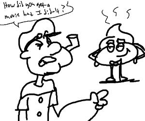 300x250 Popeye Confused By Poop Emoji (Drawing By Vandalia)