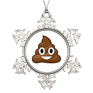 300x300 Personalised Christmas Tree Decoration Poop Emoji