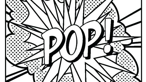 roy lichtenstein coloring pages - pop art drawing at free for personal use
