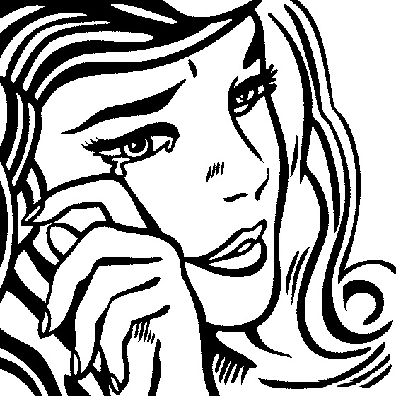 560x560 Roy Lichtenstein, Crying Girl. Line Art Me Crying