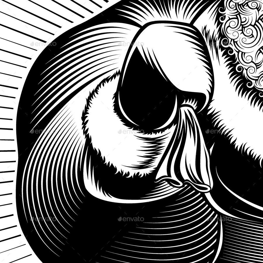 900x900 Santa Claus Cartoon Character Retro By Alexmazan Graphicriver