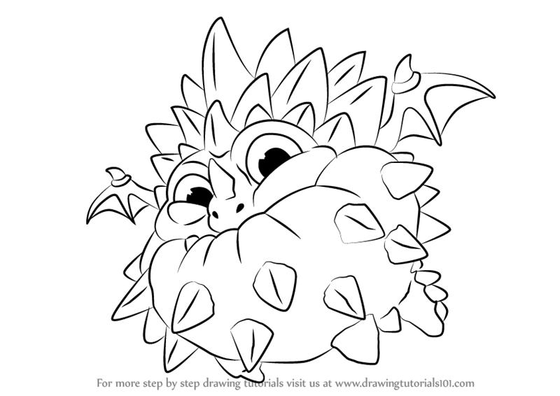 800x566 Learn How To Draw Pop Thorn From Skylanders (Skylanders) Step By