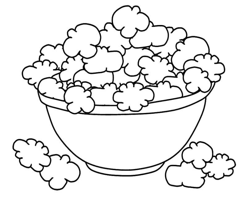 800x651 Pictures Bowl Popcorn Coloring Pages Prek Popcorn Unit