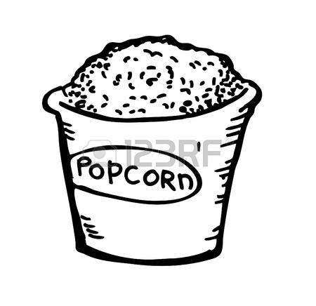 450x436 Pop Corn Doodle Royalty Free Cliparts, Vectors, And Stock