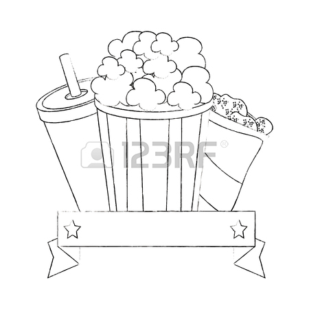 Popcorn Box Drawing at GetDrawings.com | Free for personal ...