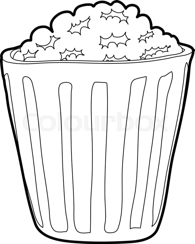 639x800 Popcorn Icon. Outline Illustration Of Popcorn Vector Icon For Web