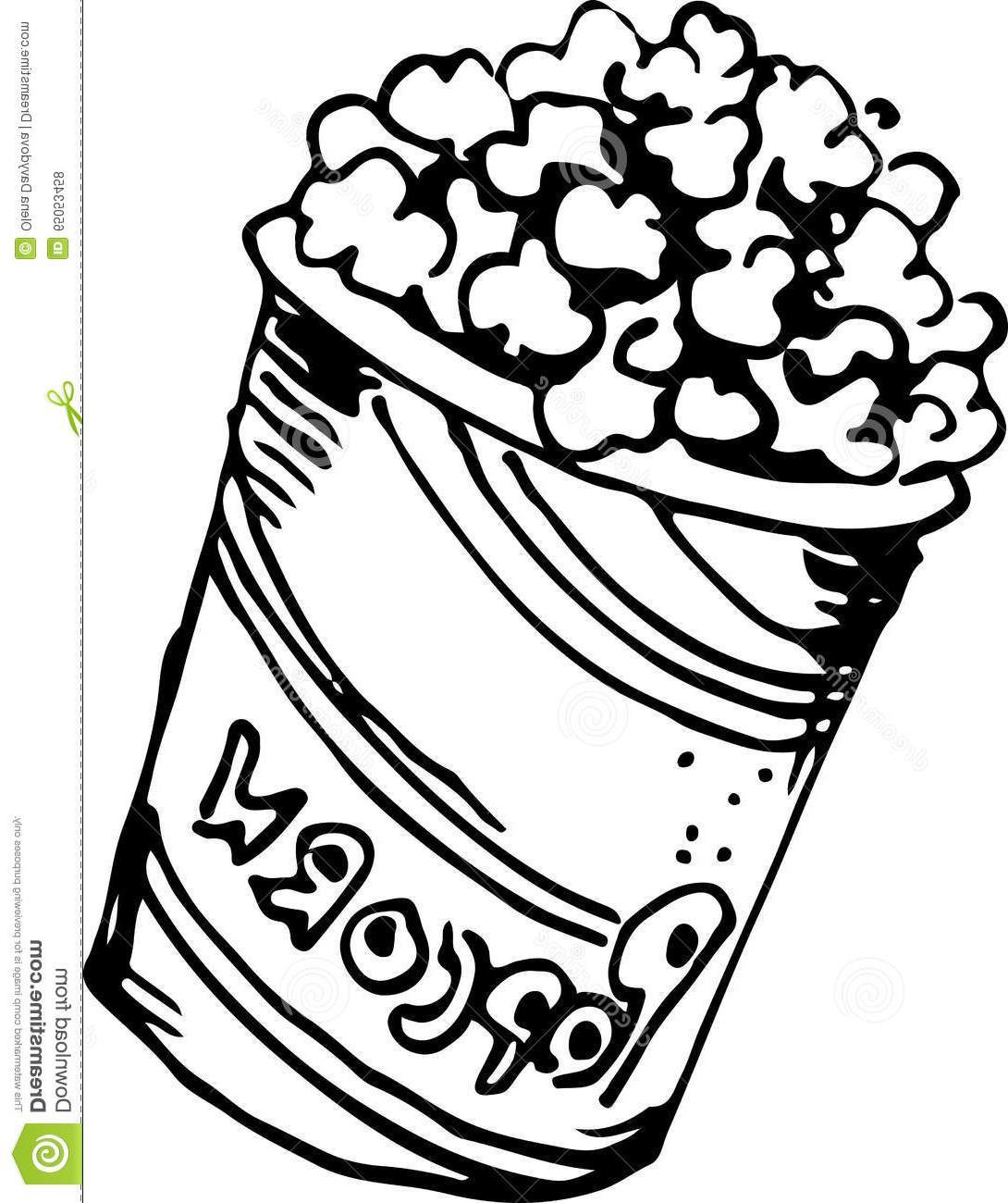 1090x1300 Unique Popcorn Drawing Vector Photos