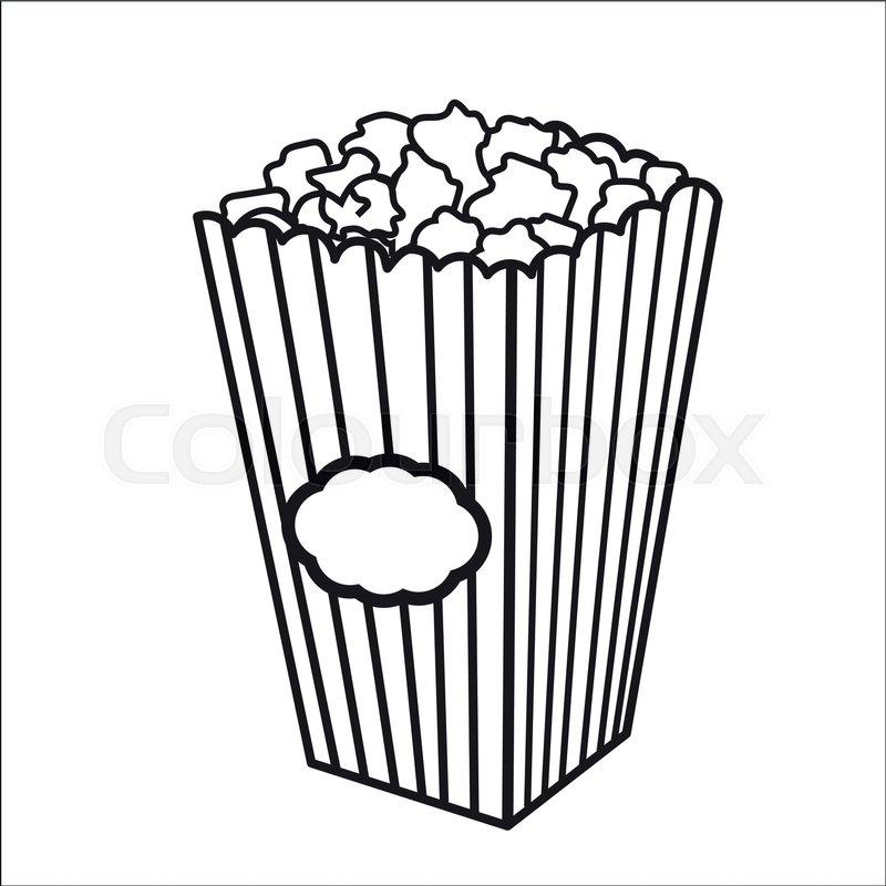 800x800 Vector Illustration With Sketch Popcorn Bucket. Sketch Design