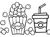 200x150 Popcorn Coloring Pages Best Of Christmas Kids Bowl