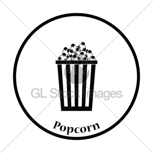 500x500 Cinema Popcorn Icon Gl Stock Images