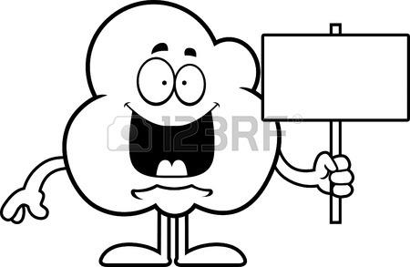 Popcorn Kernel Drawing