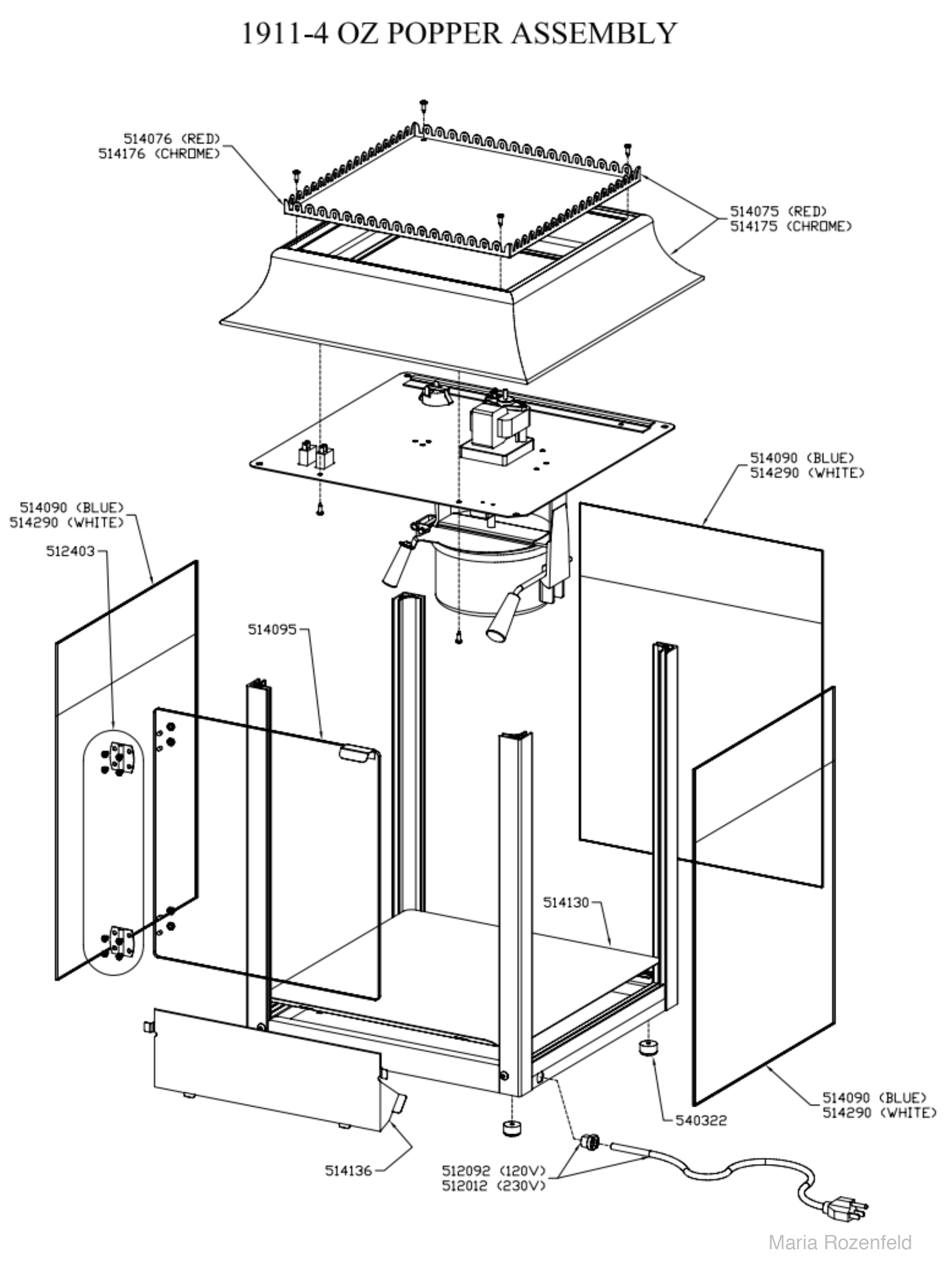 Commercial Popcorn Popper Wiring Diagram - Data Schema •
