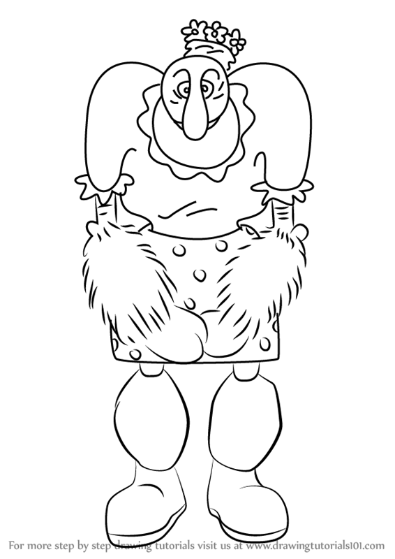 566x800 Learn How To Draw Alice The Goon From Popeye The Sailor (Popeye