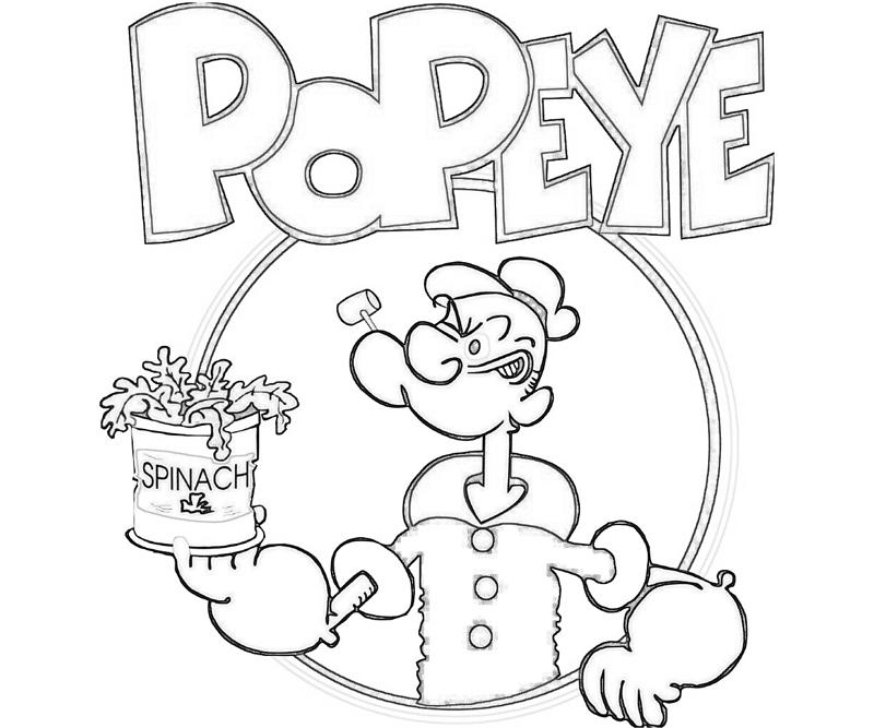 popeye the sailor man coloring pages - popeye drawing at free for personal use