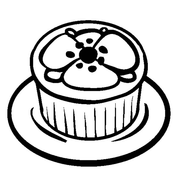 600x612 Poppy Theme Cupcakes Coloring Pages