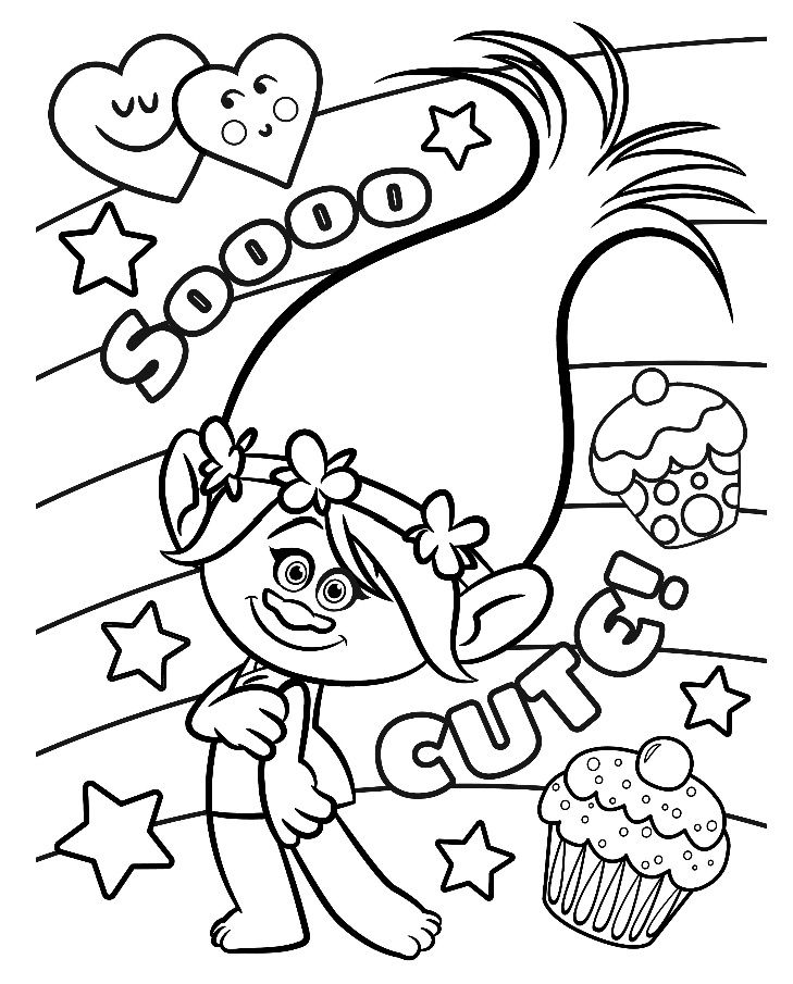 729x905 Trolls Colouring Pages To Print Nice Coloring Pages For Kids