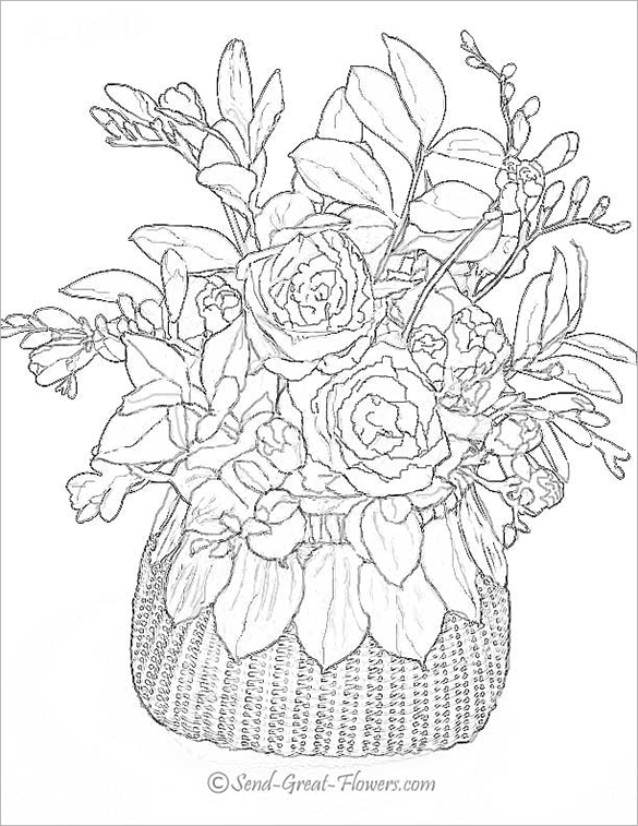 585x757 Poppy Coloring Pages