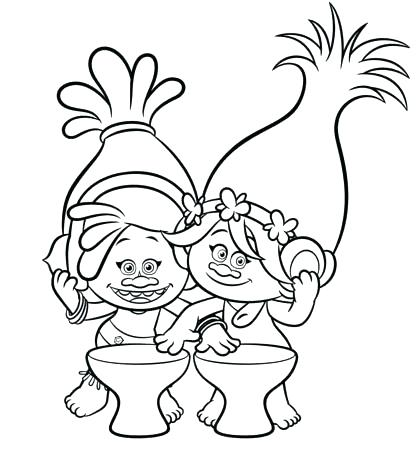 417x455 Poppy Coloring Page From Trolls Cat Colouring Pages California