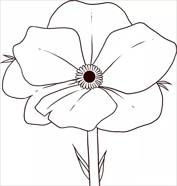 585x613 21 Poppy Coloring Pages Free Printable Word Pdf Png Jpeg Poppy