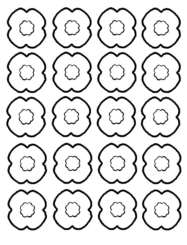 625x817 Poppy Outline Clipart