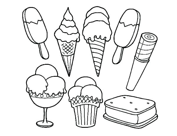 Popsicle drawing at free for personal for Coloring pages of ice cream