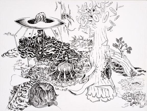 576x435 Trenton Doyle Hancock Skin And Bones, 20 Years Of Drawing