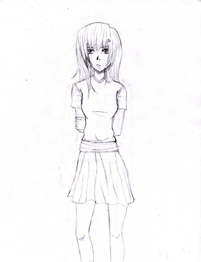 786x1024 Drawing A Pencil Girl Amp Doll Porcelain Doll (Pencil) By Chibi 96