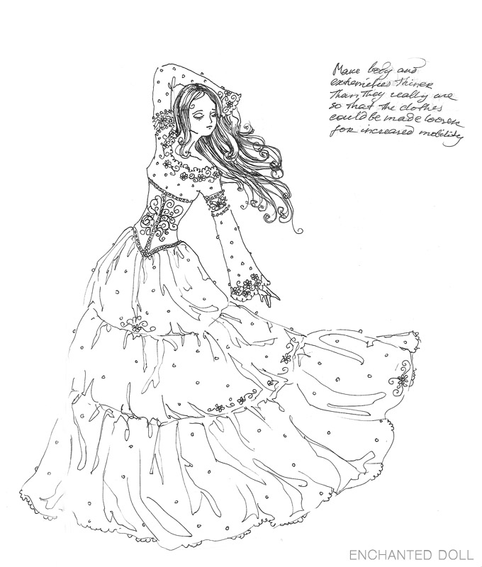 680x800 Pictures Sketch Doll,