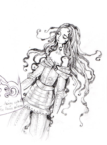 420x569 Sketch Of The Week 16 Doll From A Dream Enchanted Doll