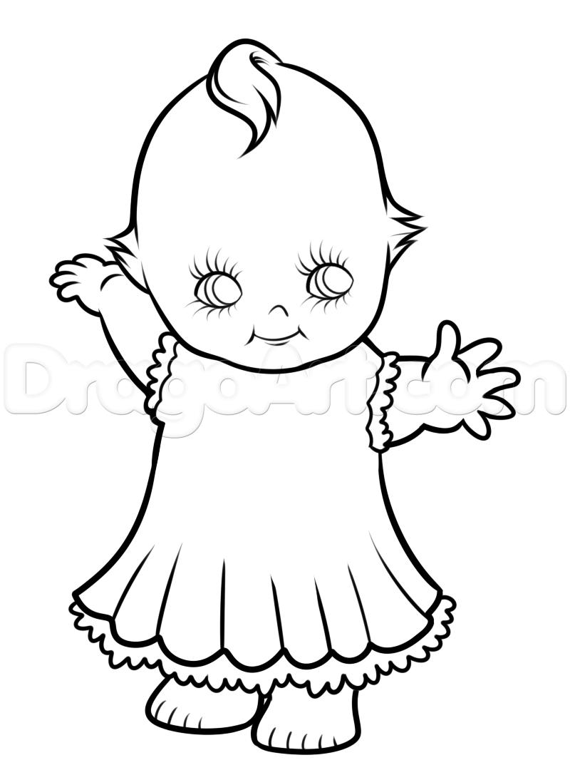 800x1094 Kewpie Doll Drawing