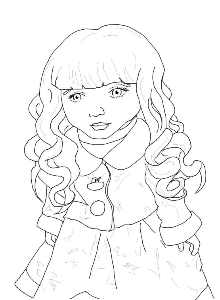 765x1044 Porcelain Doll Line Art By Rainismysunshine
