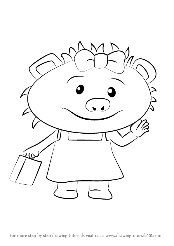 596x843 Learn How To Draw Polly May Porcupine From Sheriff Callie's Wild