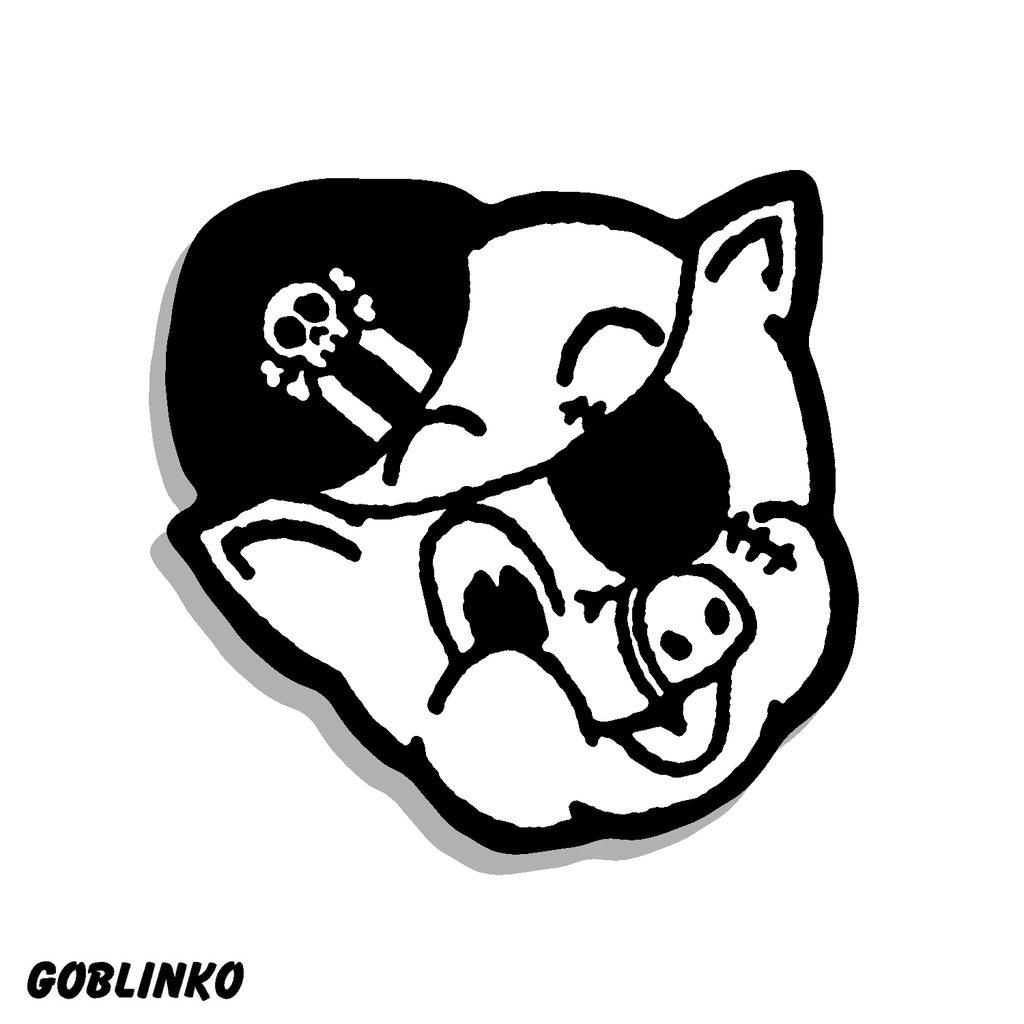 1024x1024 Pork Magazine Die Cut Vinyl Sticker Goblinko Megamall