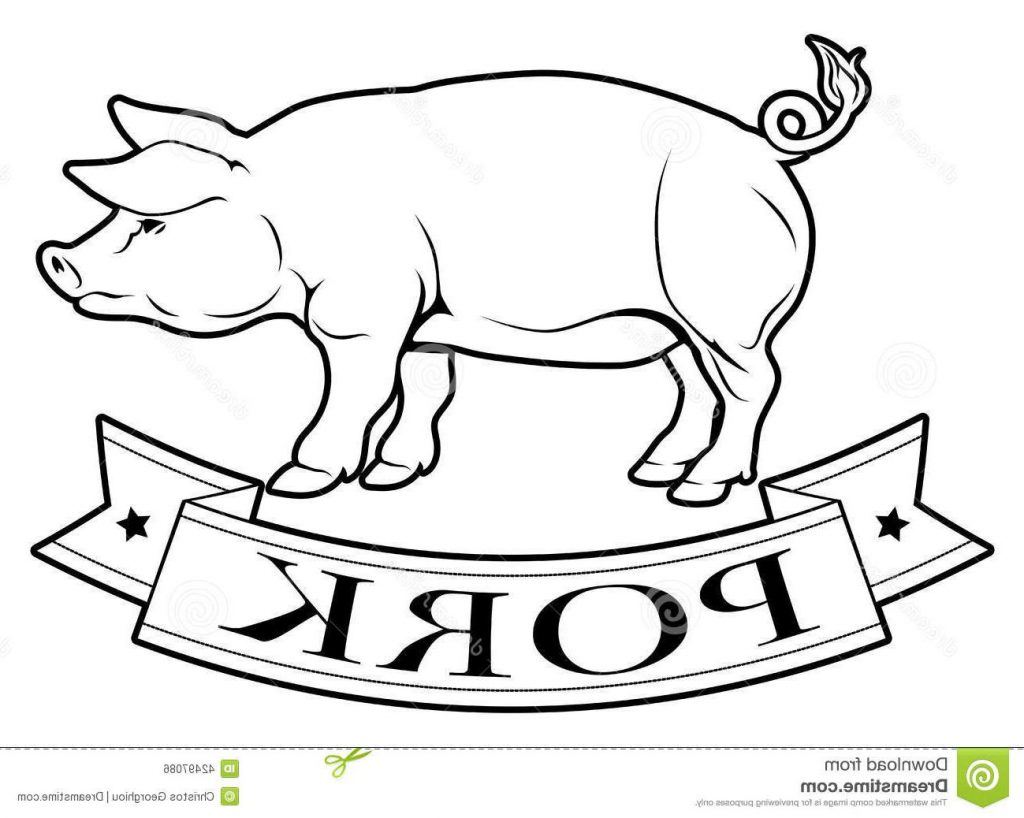 1024x818 Best Free Pork Food Label Pig Banner Reading Image